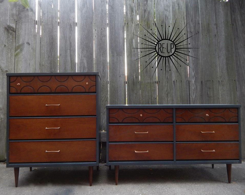 West Town Re Up, Chicago Mid Century Furniture Refurbishing #MCM #Dresser #