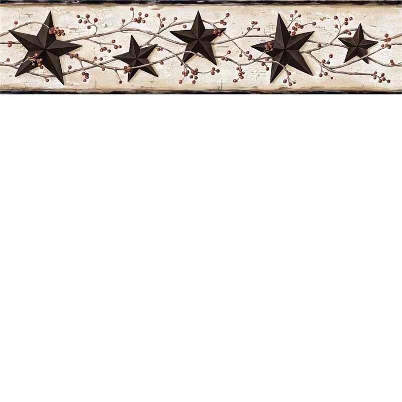 Interior Place - Black Heritage Tin Star Wallpaper Border, $27.00 (http://www.interiorplace.com/black-heritage-tin-star-wallpaper-border/)