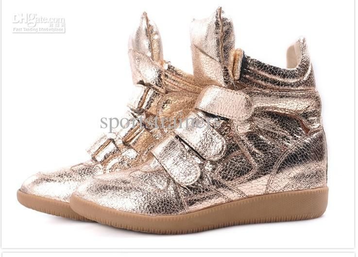 Wholesale Isabel marant sneakers high top shoes platform shoes Isabel marant shoes on sale gold, Free shipping, $32.7-77.88/Pair | DHgate