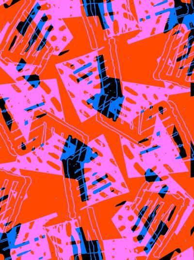 Orange Pattern - Sarah Bagshaw