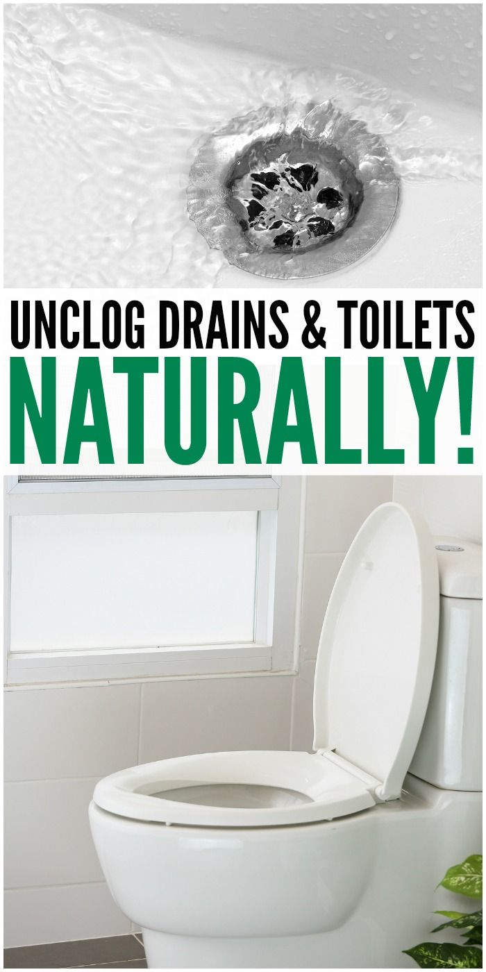 Go ChemicalFree Unclog Drains u Toilets NATURALLY Toilet