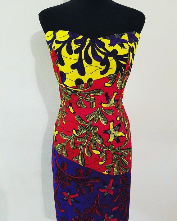 821f8a54857 Ankara casual short gown. Ankara dress. African print dress. Women dress.  Short dress. Gown. tube fi
