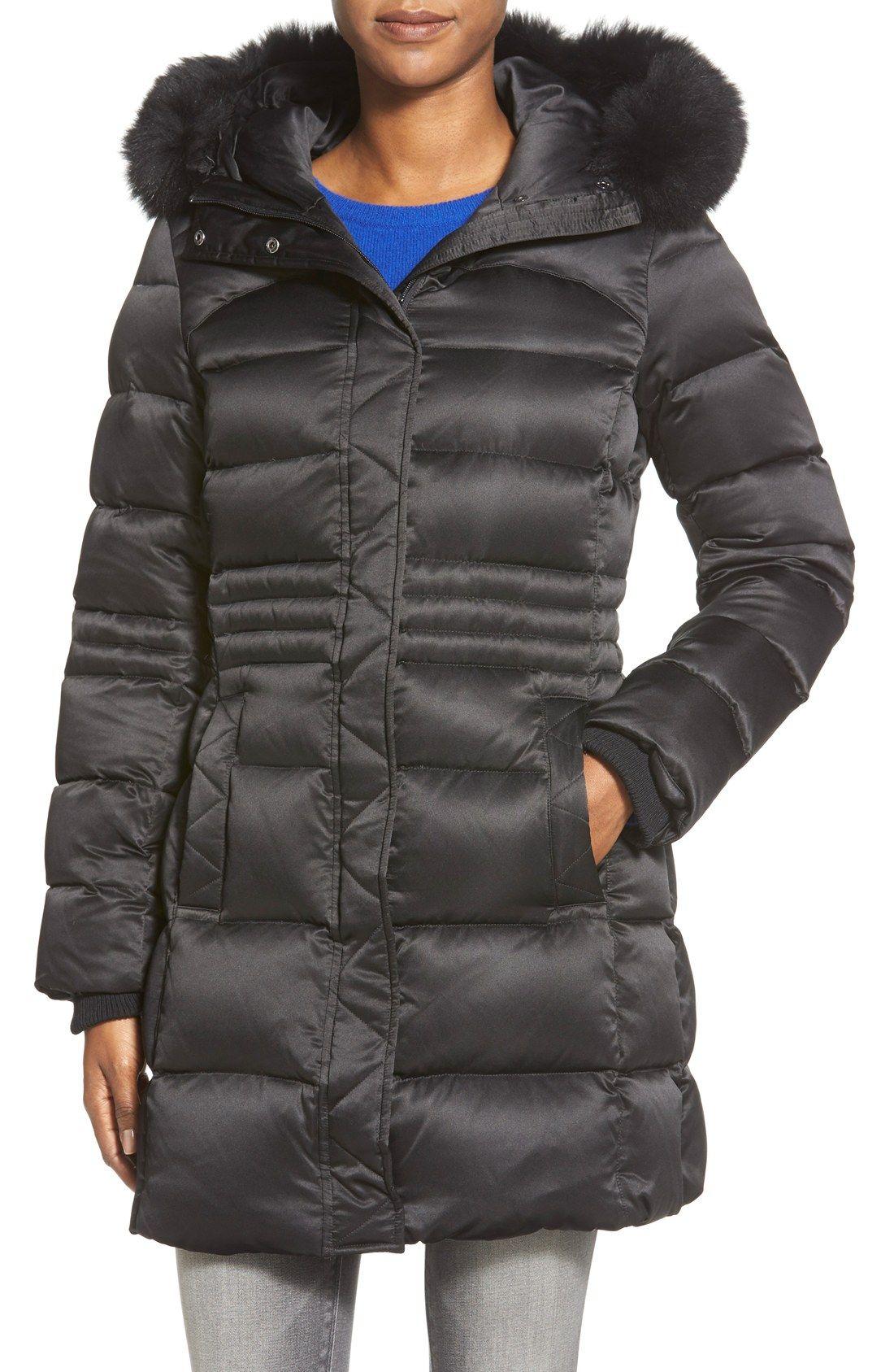 8409c3f24 Sachi Down Coat with Genuine Fox Fur Trim (Regular & Petite) | I'd ...