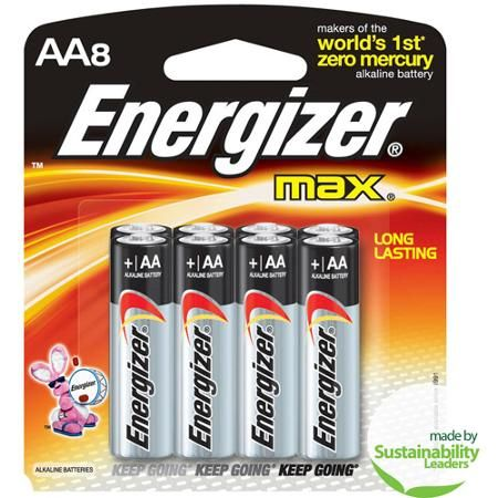 Energizer Max Aa 8 Pack Household Batteries Energizer Battery Energizer Alkaline Battery