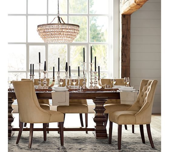 Banks Extending Dining Table Alfresco Brown 92 Quot 128 Quot L Dining Room Furniture Dining Room Decor Home