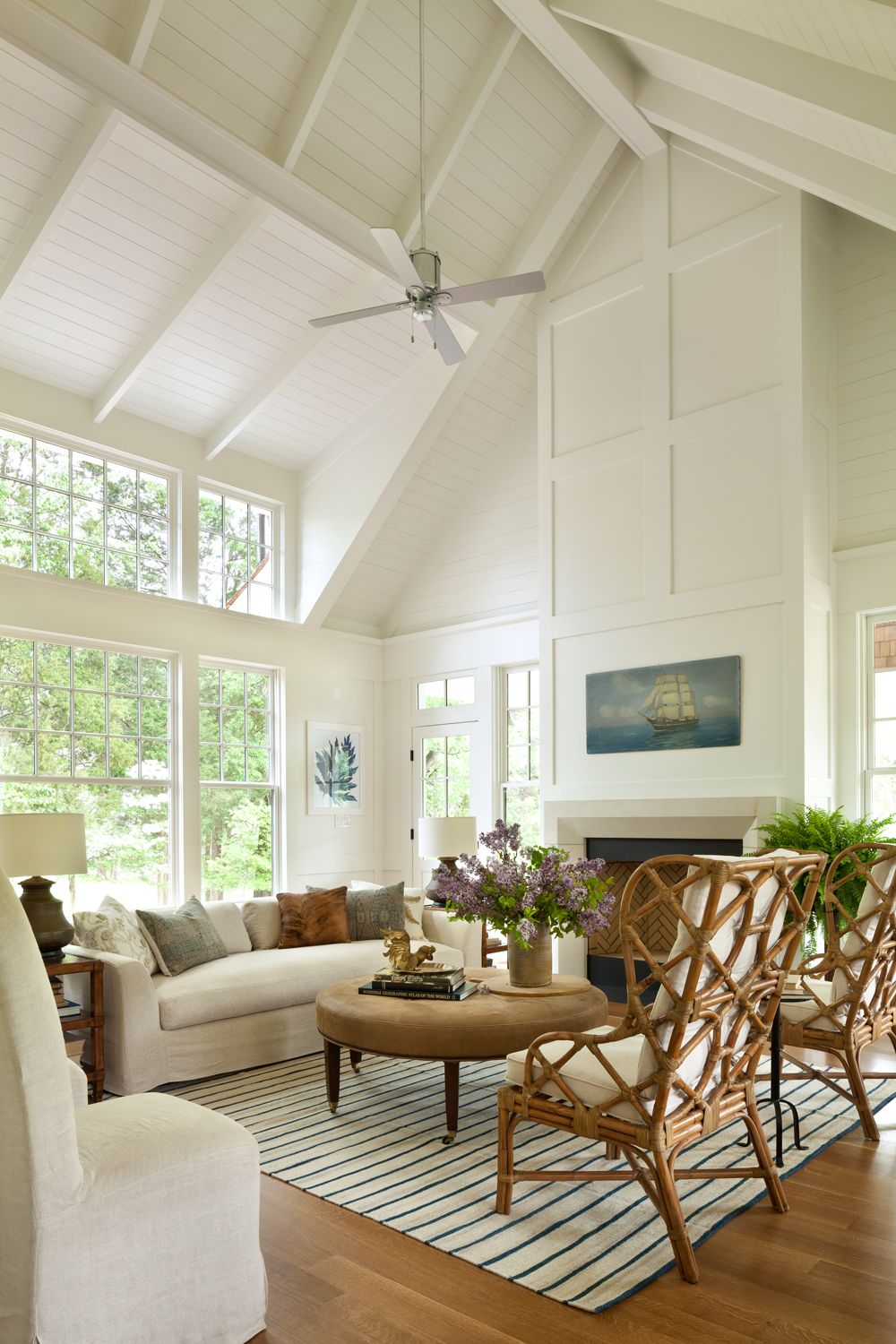 Inspired By Lake House Style Rustic Chic Living Room Coastal