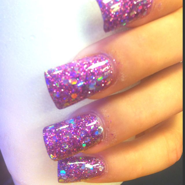 Solar Glitter Nails 3