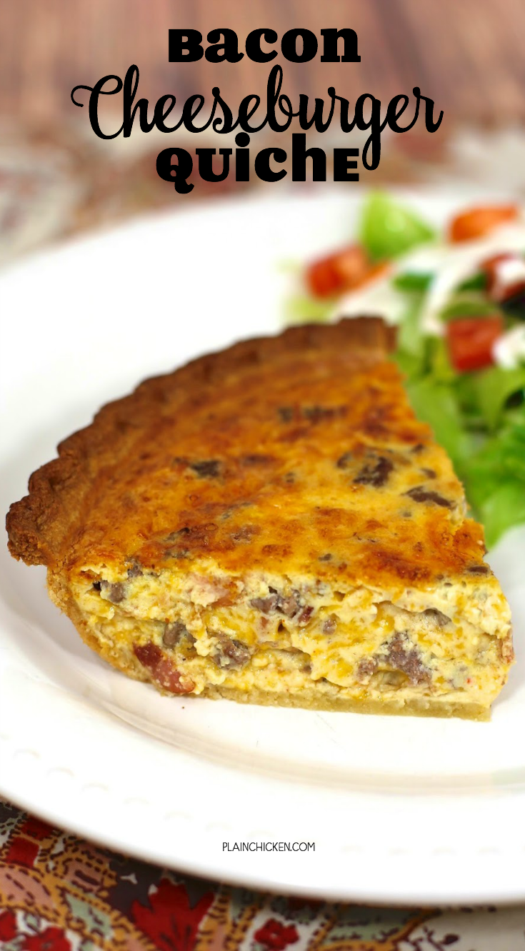 Bacon Cheeseburger Quiche Bacon Cheeseburger Quiche Recipes Hamburger Quiche Recipe