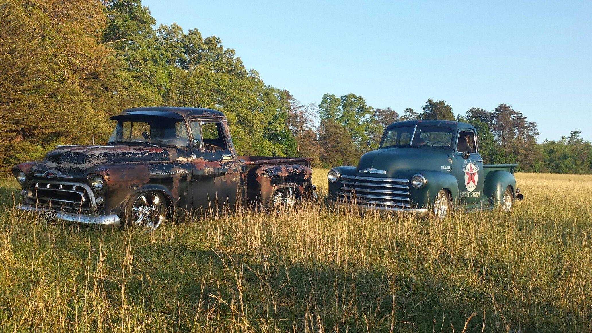 57 Chevy 49 Trucks Texaco Feild Rat Rod Low Rider 1949 Truck Hot