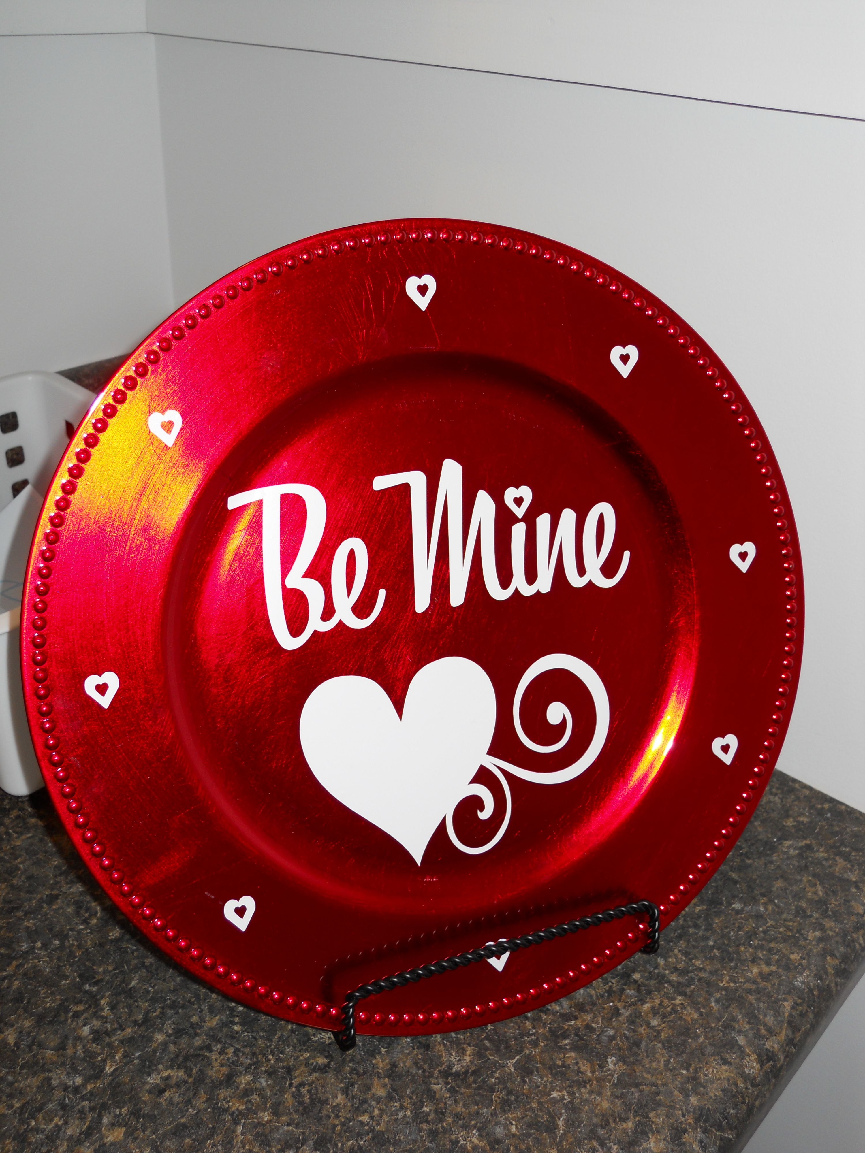 Valentine S Charger Valentines Diy Charger Plate Crafts