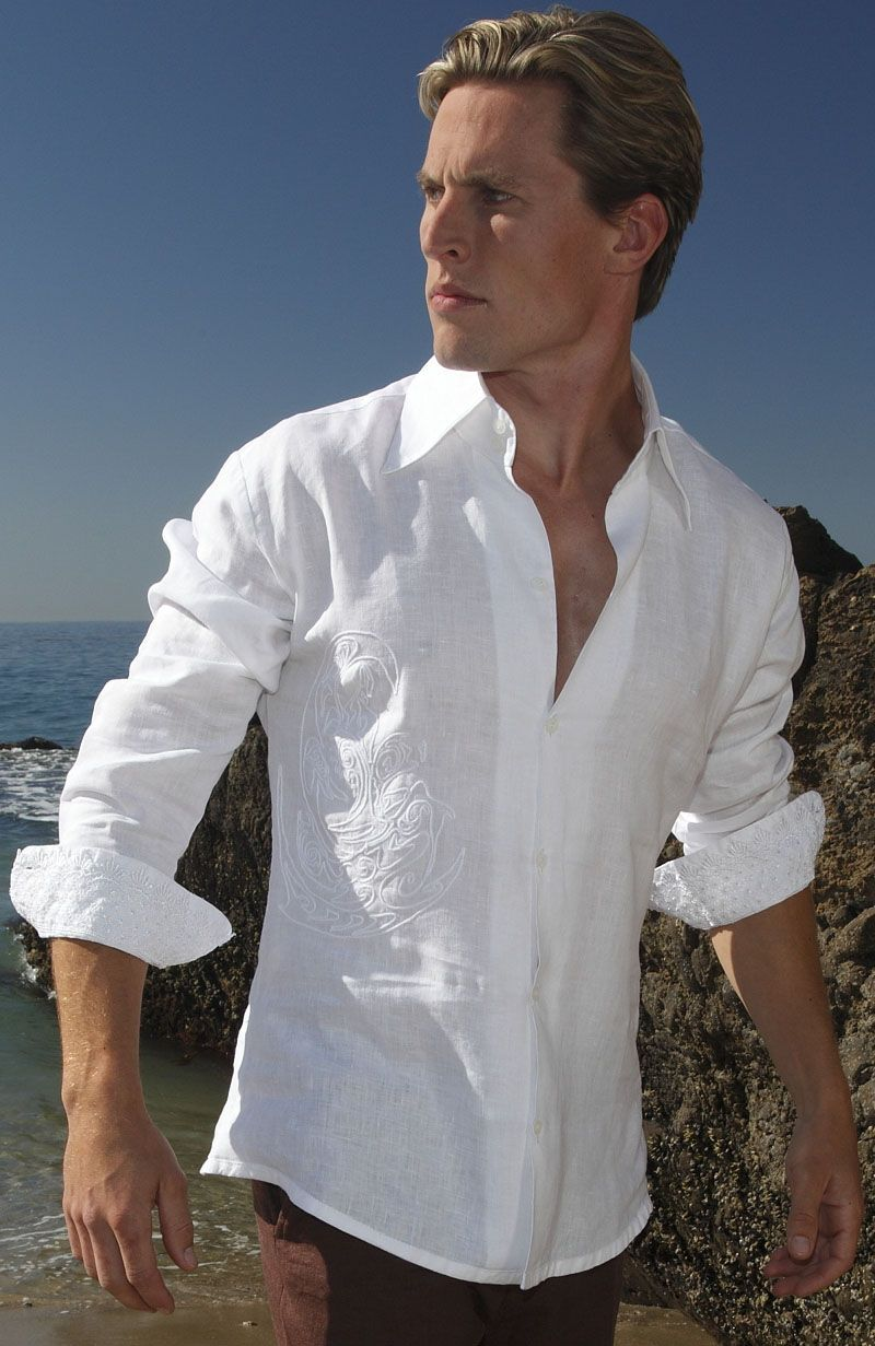 Balos Fitted Cut Italian Linen Shirt