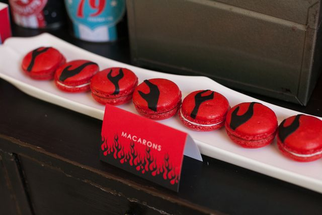 Macarons at a Motorcycle Party #motorcycle #party