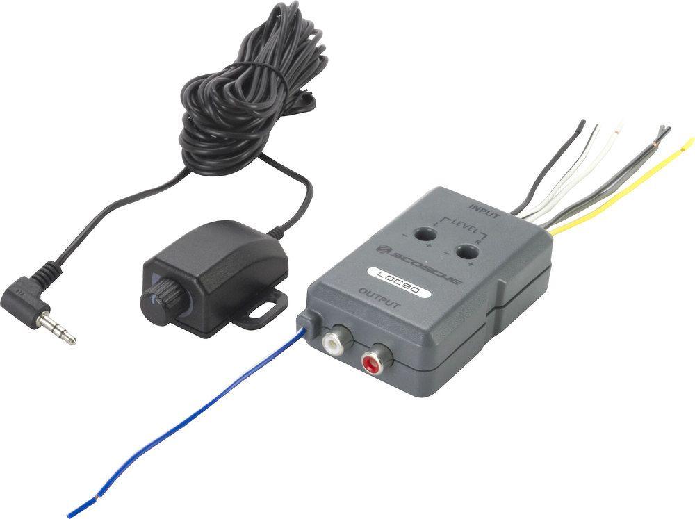 Scosche Loc90 Speaker To Rca Line Output Converter 2 Channel Speaker To Rca Line Output Converter With Remote Level Control At Crutchfield Converter Subwoofer Amplifier Speaker Wire