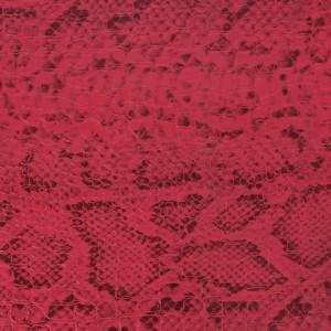 Tissu simili cuir croco avec motif serpent – Fuchsia / Noir x50 cm   – Les Nouveautés Perles & Co