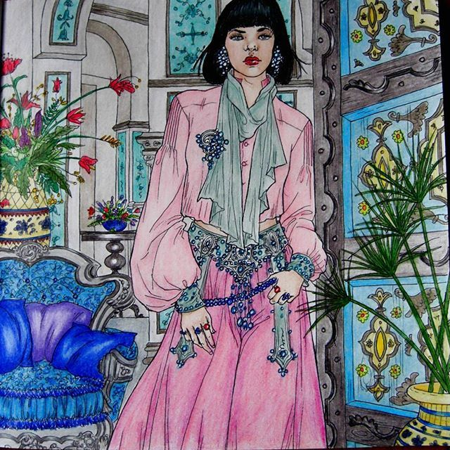 Amren From A Court Of Thorns And Roses Done In Prismacolors