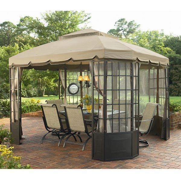 gazebos and canopies  sc 1 st  Pinterest & gazebos and canopies | gazebo jaclyn smith today bay window gazebo ...