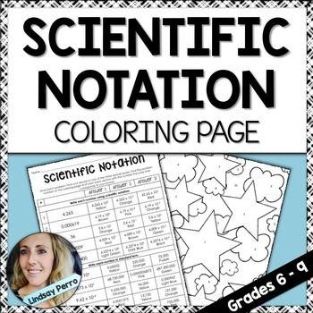 Scientific Notation Coloring Worksheet   Scientific Notation ...