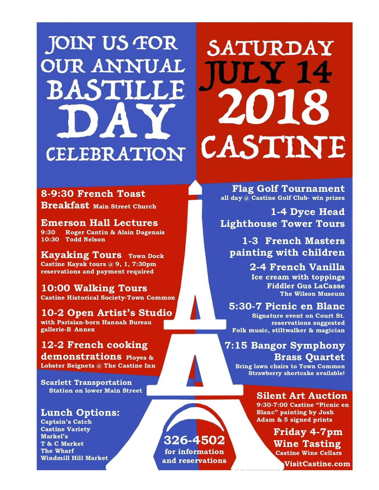 Join Us For Our 4th Annual Bastille Day Celebration On July 14 2018 For More Info Go To Www Visitcastine Com And Look For Spe Bastille Day Bastille Castine