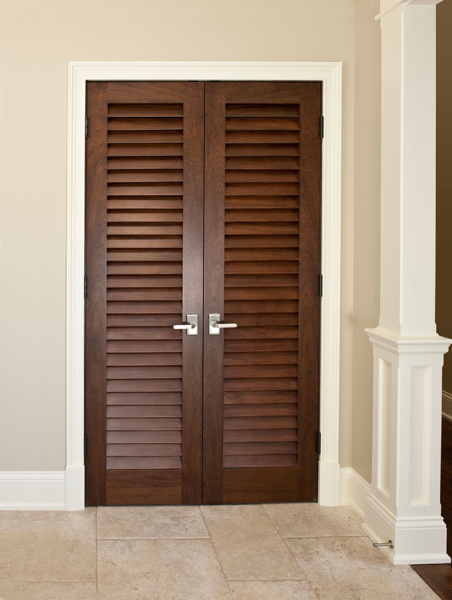Custom Bifold Louvered Closet Doors | Interior Barn Doors | Pinterest
