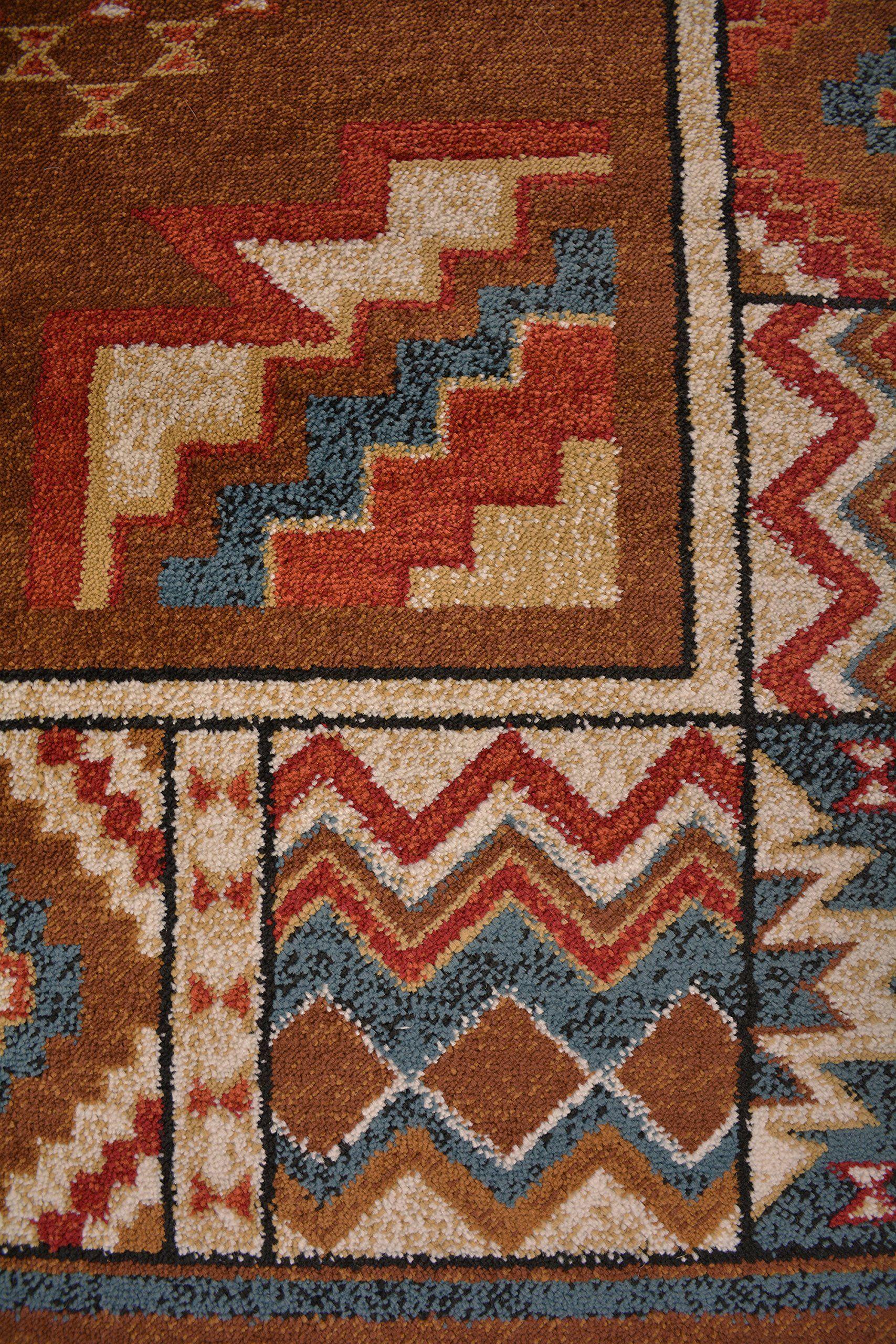 Nevita Collection Southwestern Native American Design Area Rug Rugs