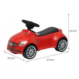 homcom mercedes slk 55 amg ride on toy push along car toddler kids walker red