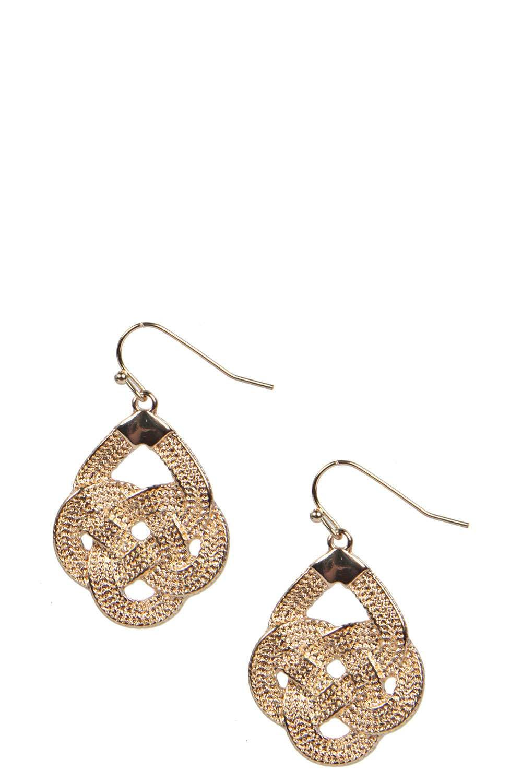 Lola Twisted Chain Earrings alternative image
