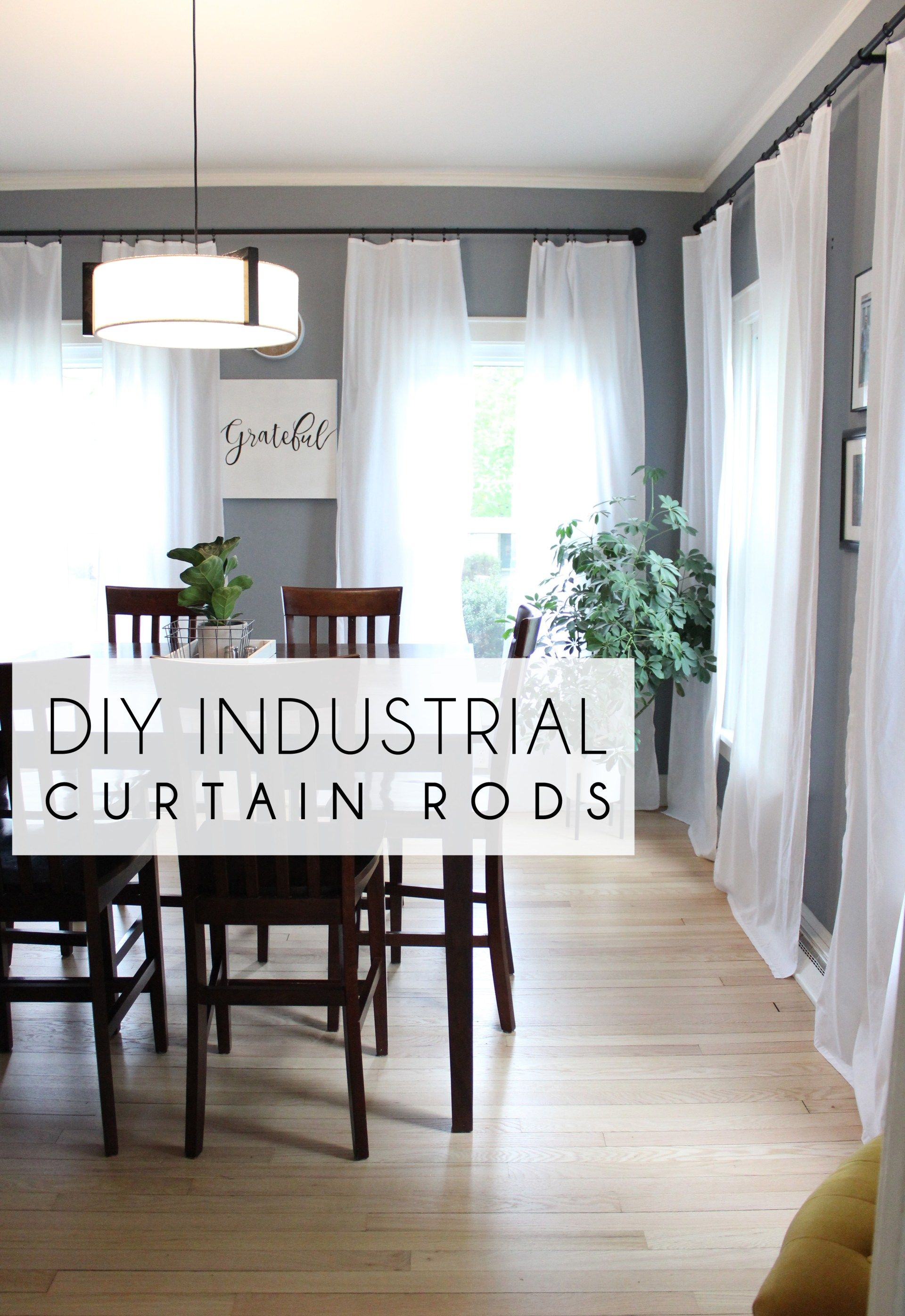 Diy Industrial Curtain Rods Extra Long Diy Curtains Industrial