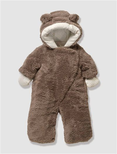 03efd7215 Newborn Faux Fur Convertible Snowsuit Cream+Dark brown | KIDS ...