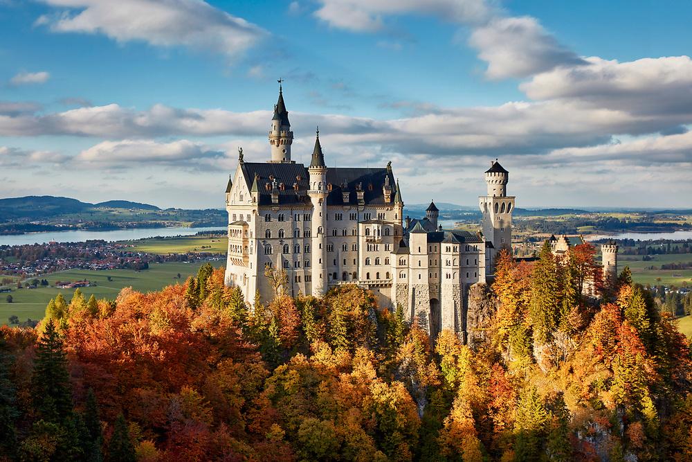 Schloss Neuschwanstein Im Herbst Harald Nachtmann Schloss Neuschwanstein Neuschwanstein Schwanstein