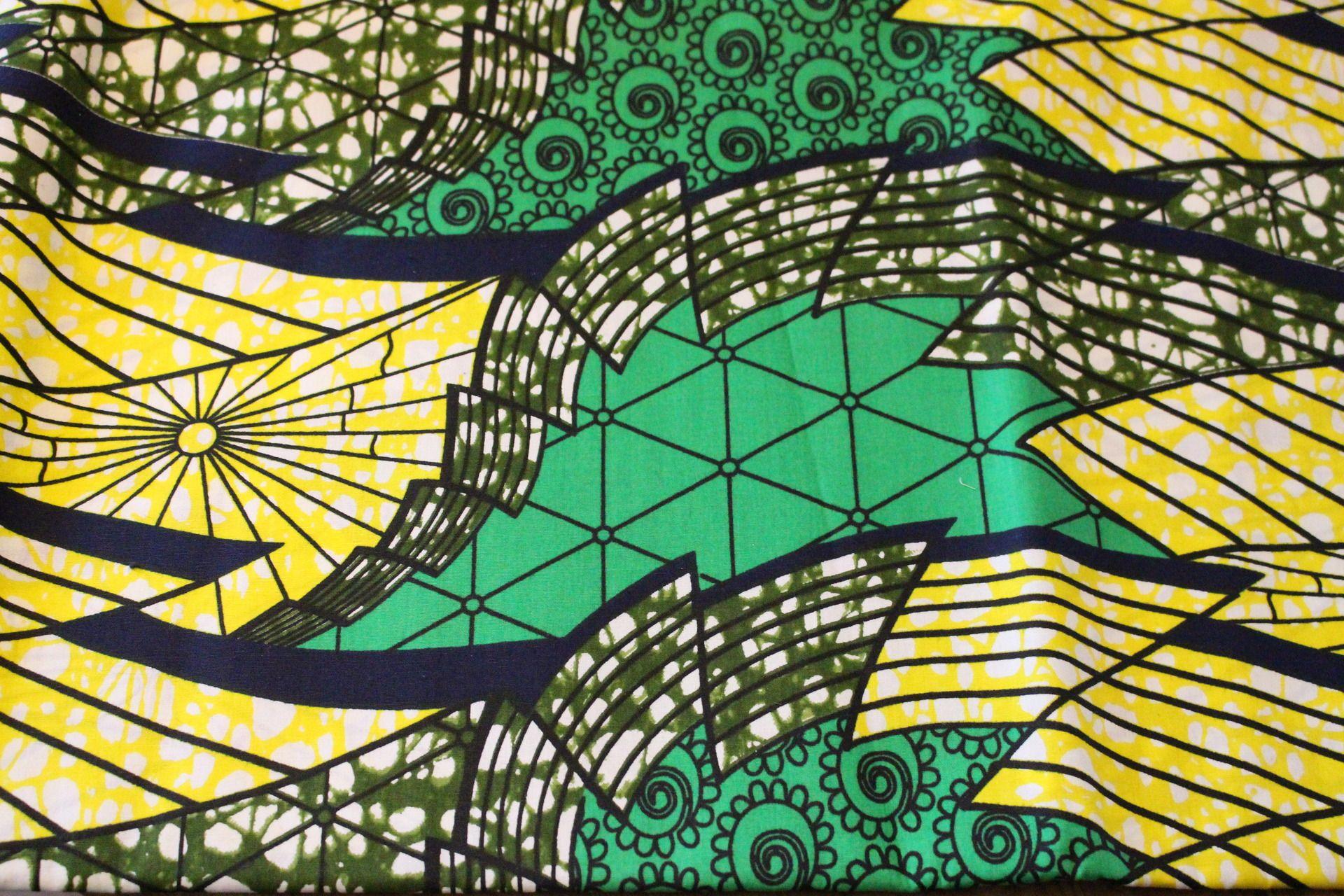 tissu africain vert