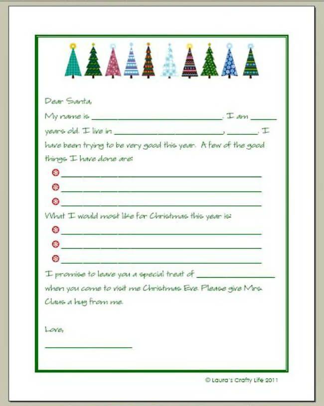Printable Letter To Santa Template Santa Letter Template Christmas Lettering Santa Template