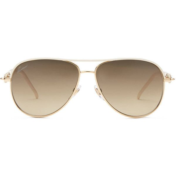 bcb15411eb6 Gucci Acetate Aviator Sunglasses With Marina Chain ( 485) ❤ liked on Polyvore  featuring accessories