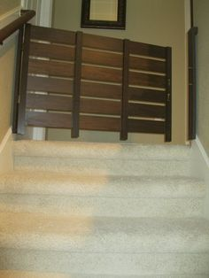 DIY Baby Gate For Stairs. Couldnu0027t Find A Non Tacky Looking