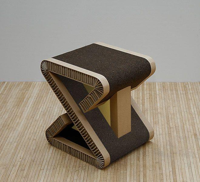 Meuble Ecologique 100 Recyclable Tabouret Design Mobilier De Salon Mobilier En Carton Meuble En Carton