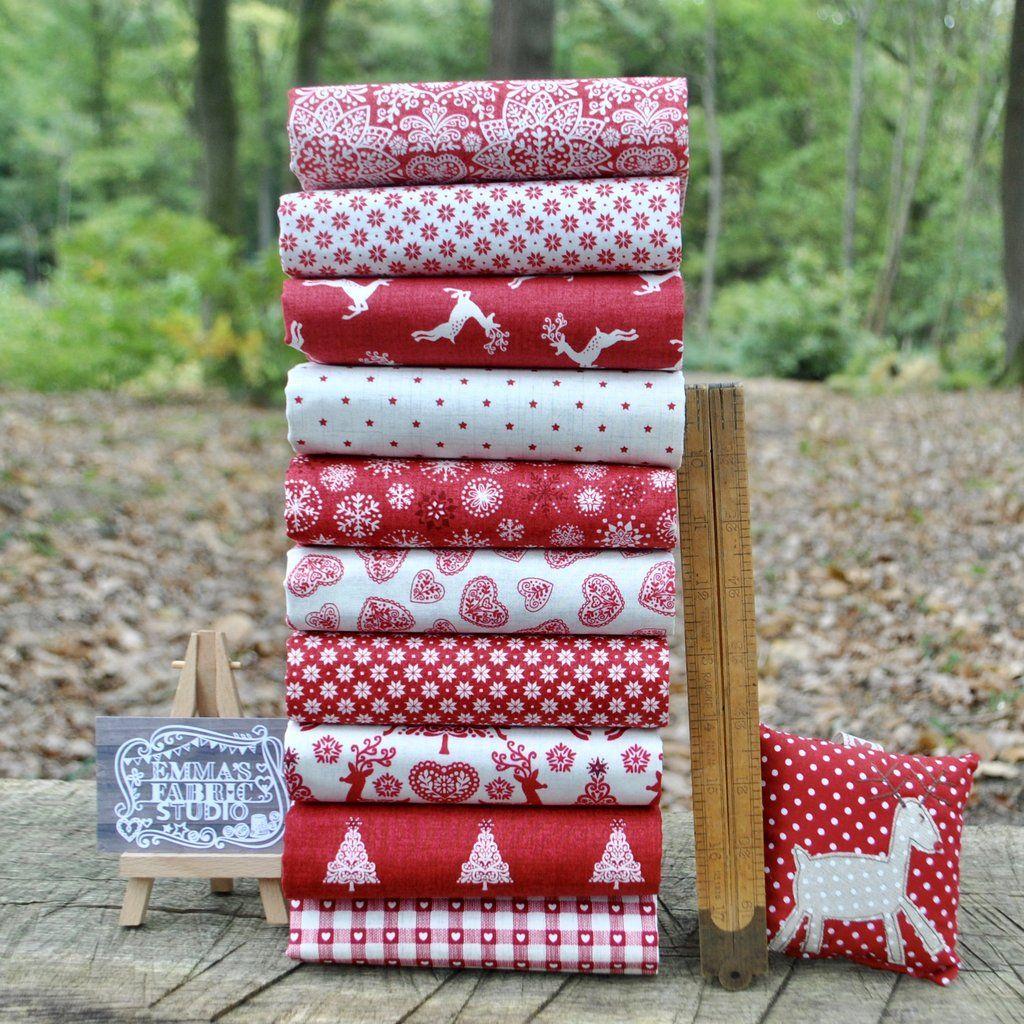 Wrap It Up Presents On White Cotton Fabric  Fat Quarter Makower
