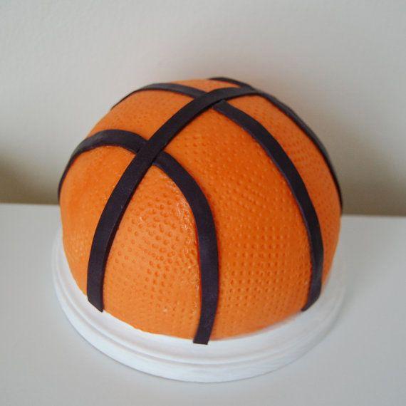 Fondant 3d Baketball Cake Topper Basketball Cake Sports Themed Cakes Cake Toppers