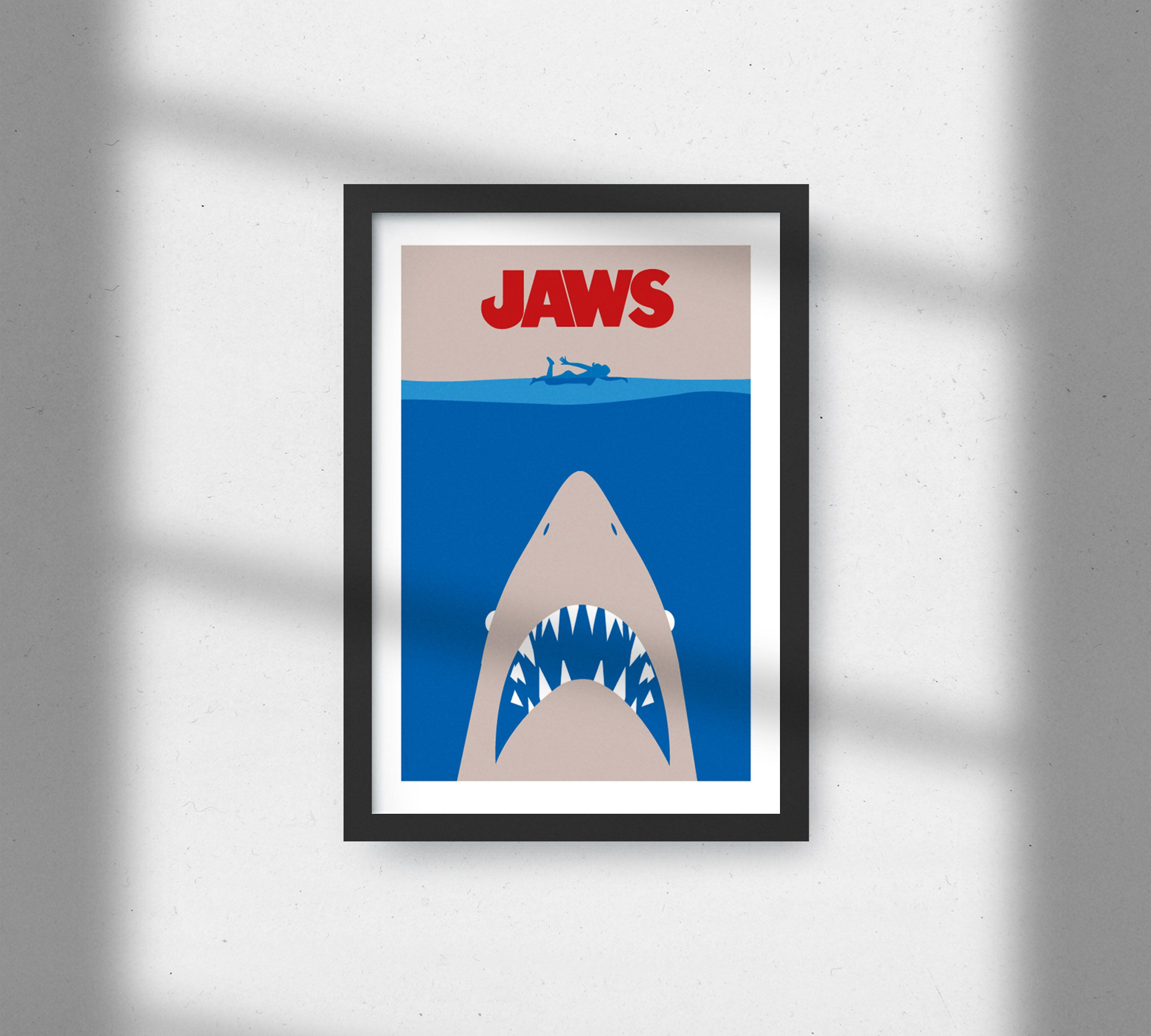 Jaws Classic Movie Poster Shark Print Movie Print Jaws Etsy Movie Prints Retro Prints Classic Movie Posters