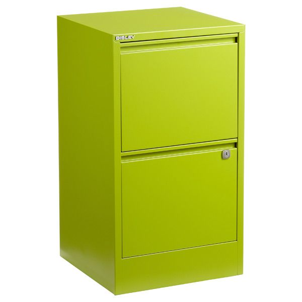 Bisley Green 2 Drawer Locking Filing Cabinet The Container Store With Images Filing Cabinet 3 Drawer File Cabinet