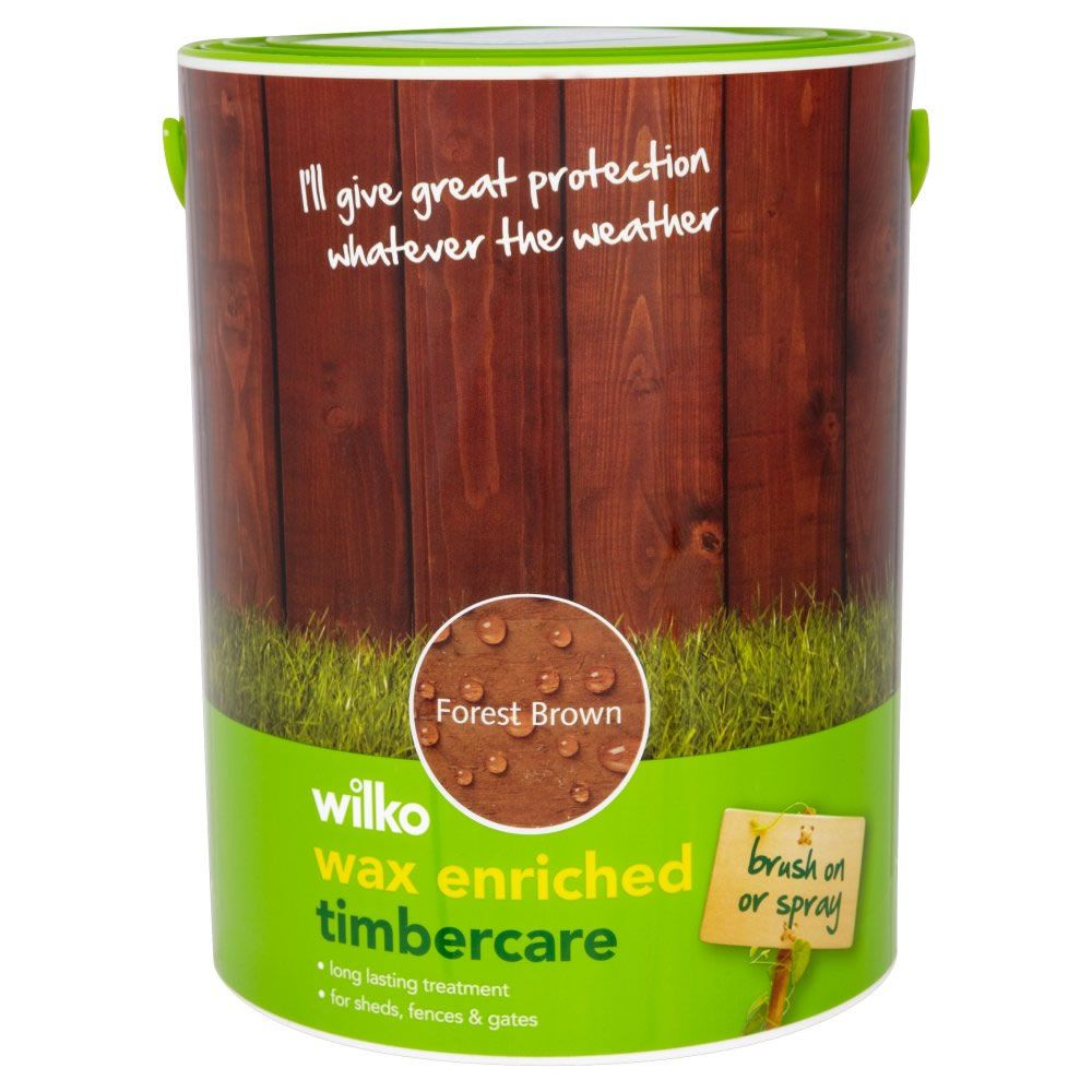 Wilko Wax Enriched Timbercare Forest Brown 5ltr | Project Falmer ...