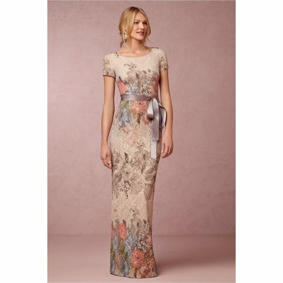 Hp Adrianna Papell Floral Gown Nwt Melinda Dress Mothers Dresses Groom Dress
