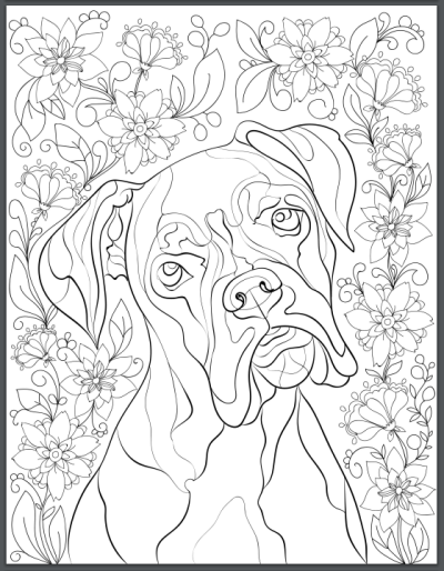 De Stress With Dogs Downloadable 10 Page Coloring Book For Adults Who Love Dogs Print Instantly Dog Coloring Page Dog Coloring Book Animal Coloring Pages