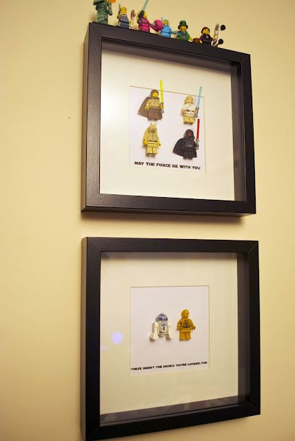 Gift Idea Lego Shadow Box Decor May The Force Be With You These Are Not The Droids You Re Looking For Star Wars Crafts Lego Craft Star Wars Diy