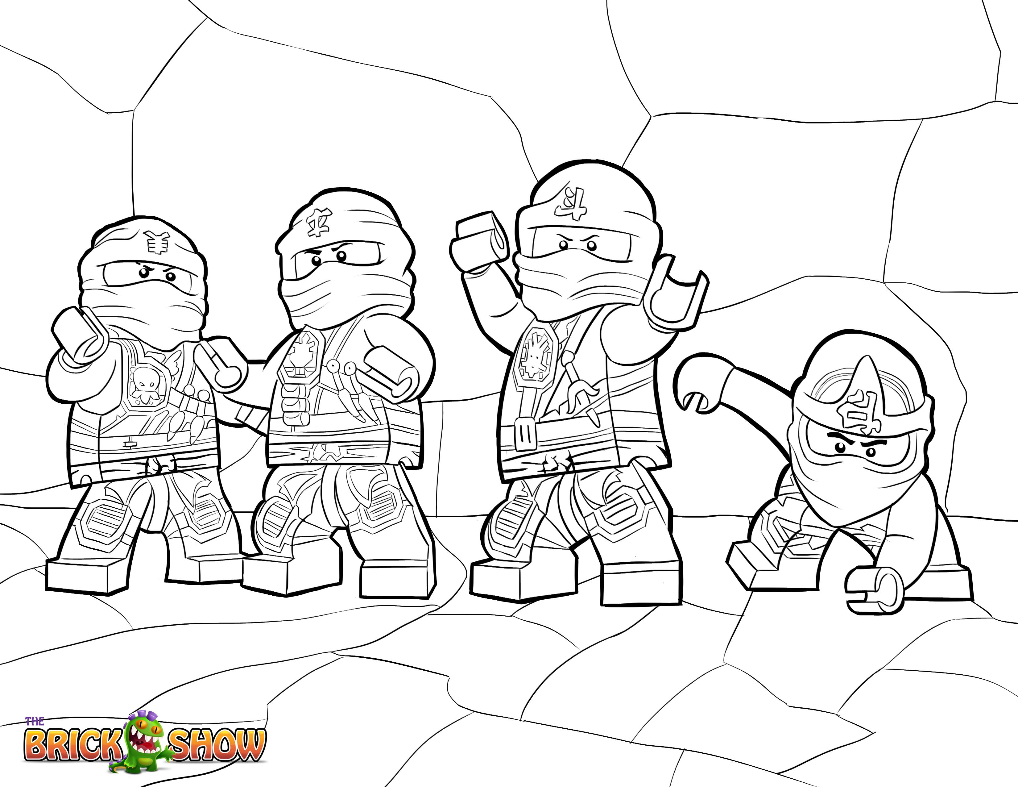 LEGO Ninjago Coloring Page, LEGO LEGO Ninjago Zukin Ninjas Printable ...