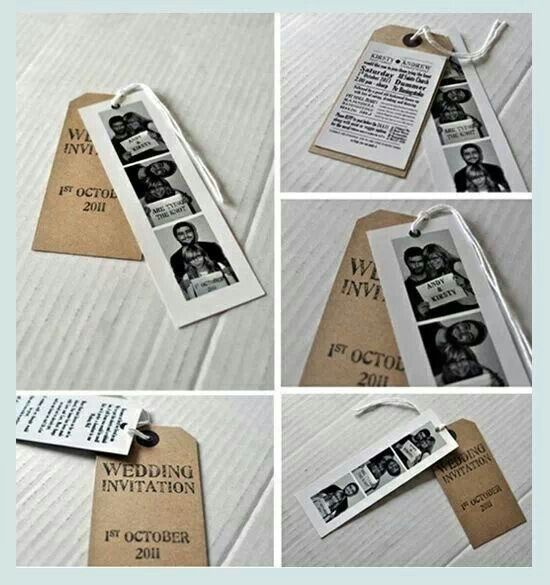 Different type of wedding invitation. Kind of like the style