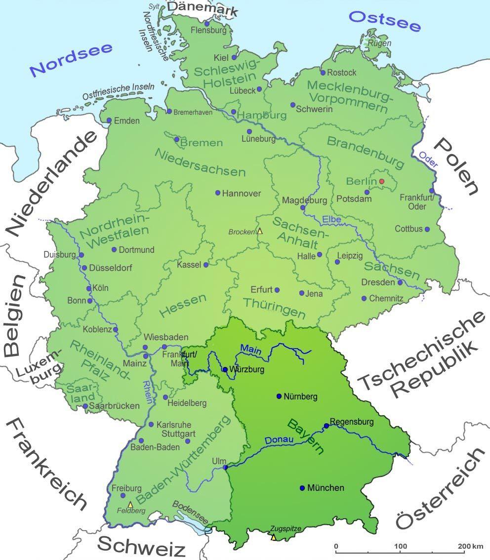 Karte Deutschland Bild Von Joachim G Auf Reise Ausfluge