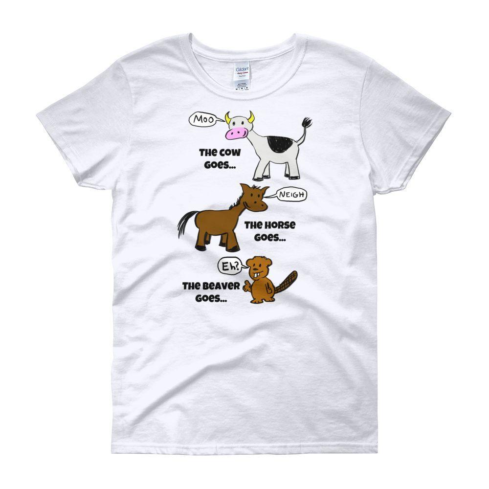 The Beaver goes... Women's short sleeve t-shirt!