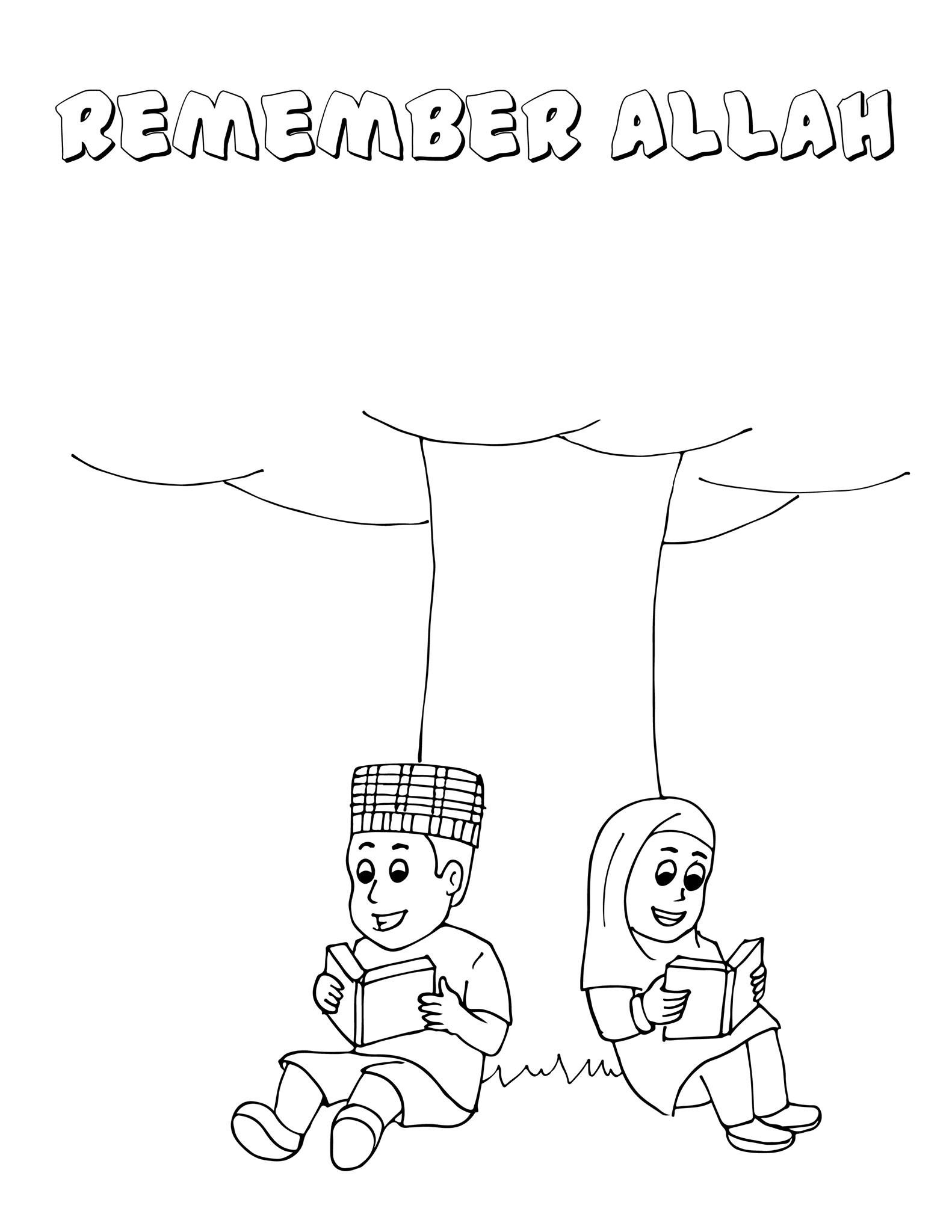 Islamic Coloring Pages Free