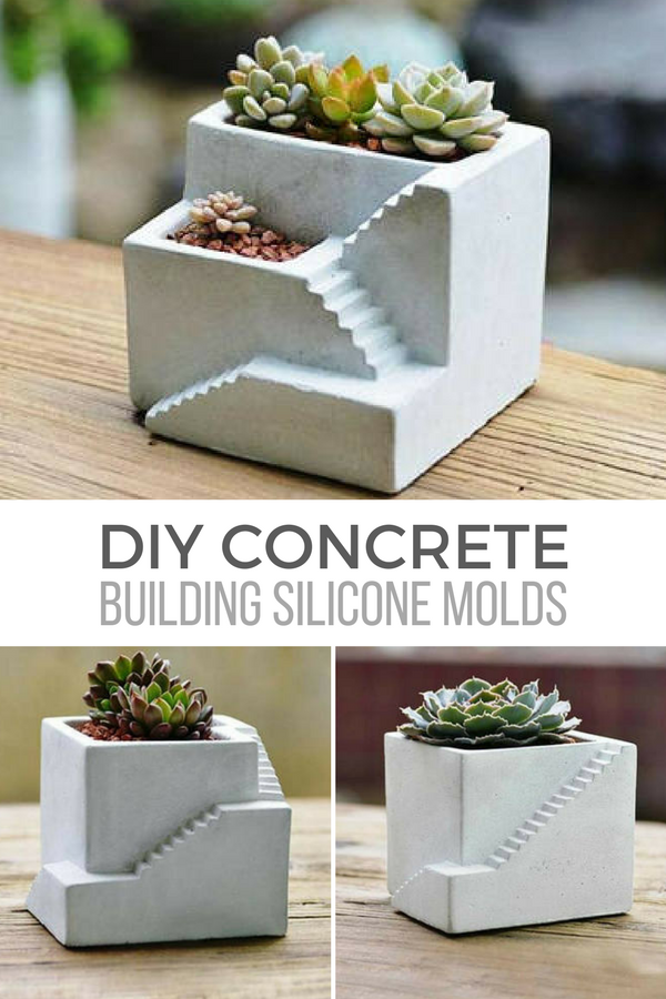 These Architectural Building Concrete Planters Are So Awesome I