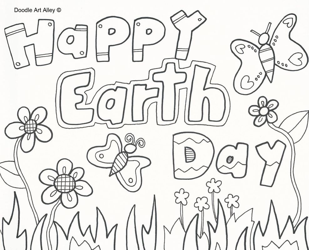 Free coloring pages earth day