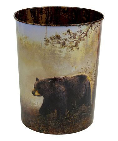 Loving this Bear Waste Basket on #zulily! #zulilyfinds